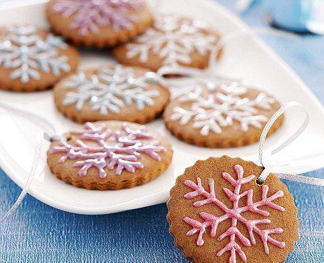Новогодние печеньки-снежинки