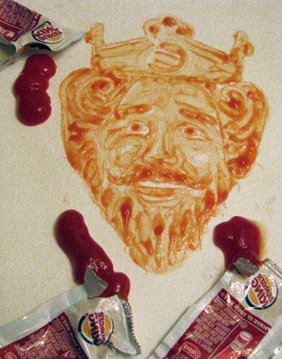 Портрет из кетчупа
