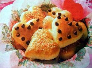 Булочки к завтраку на день святого Валентина