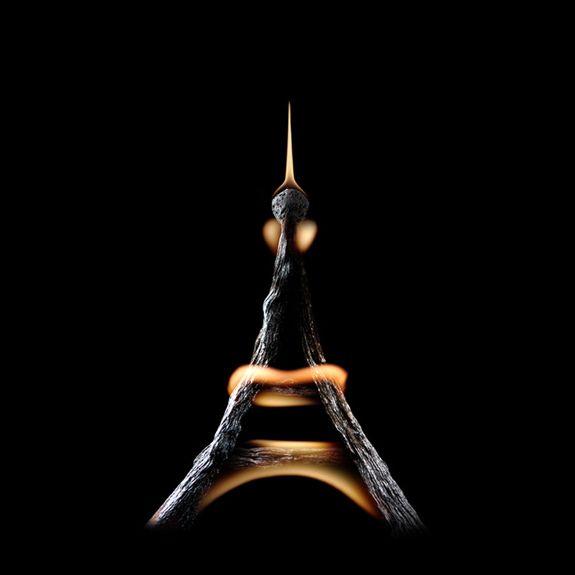 Огненные Шедевры от Станислава Аристова - Эйфелевая Башня