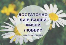 Достаточно ли в вашей жизни любви?