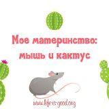 Мое материнство: мышь и кактус